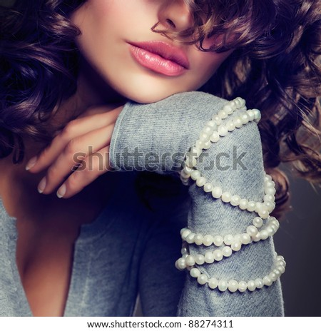 Fashion Beauty Portrait. Sexy Woman. - stock photo