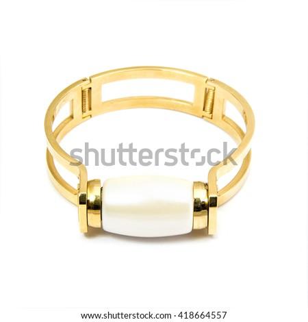 Fashion Bracelet isolated on white - stock photo