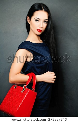 Fashion Brunette Woman. Vogue Style portrait - stock photo