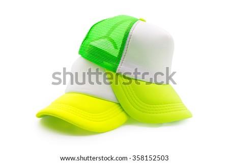 Fashion cap. Fashion cap isolated. Clipping path cap. Cap isolated. Hat isolated. Blank cap. Blank fashion cap. Blank sport cap. Modern style cap.  Sun protection. Hot protection. Hat isolated. - stock photo