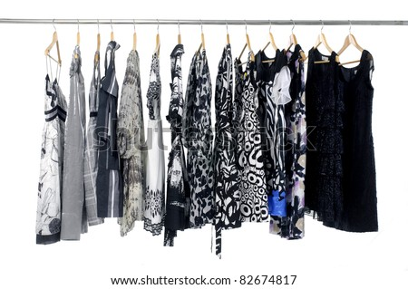 fashion clothes on hangers fashion clothes on hangers - stock photo