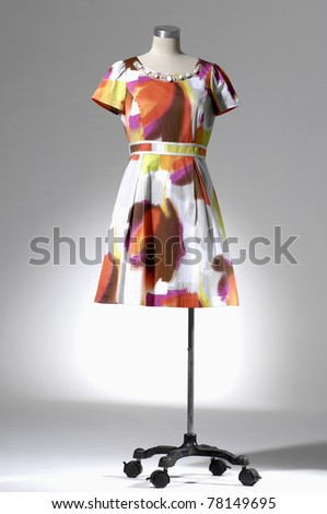 Fashion clothing on mannequin isolated - stock photo