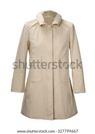 fashion coat  isolated on white background - stock photo