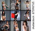 Fashion collage - stock photo