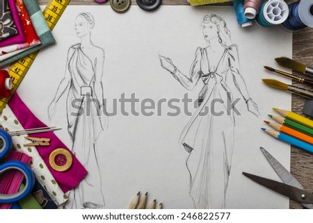 Fashion design  - stock photo