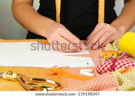 Fashion design close up - stock photo