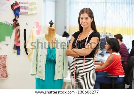 Fashion Designer In Studio - stock photo