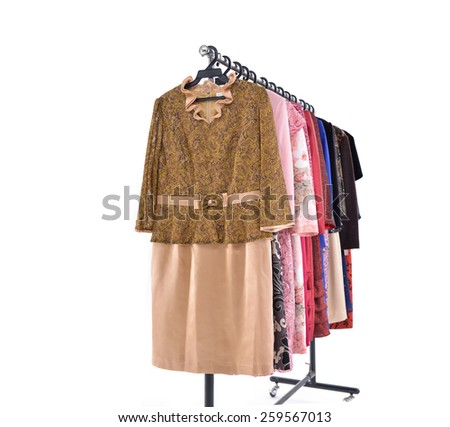 fashion female colorful clothing on display  - stock photo