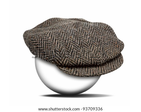 fashion hat on white with clipping path for the hat - stock photo