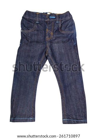 Fashion jeans pants. Clothes isolated on white.  - stock photo