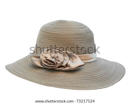 Fashion lady hat - stock photo