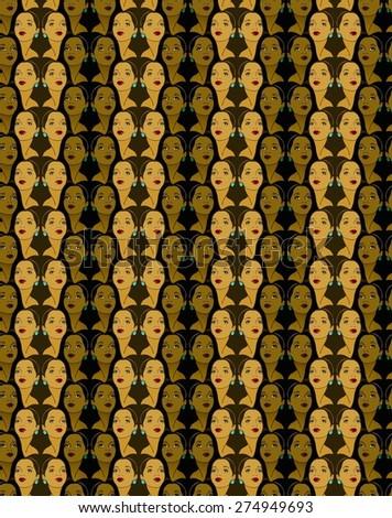 Fashion model pattern, beauty and style - stock photo