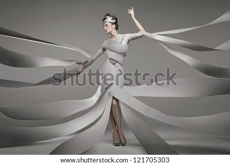 Fashion photo of a sexy woman - stock photo