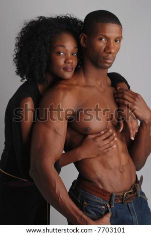 Fashion photo-shoot, two models - stock photo
