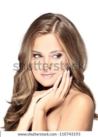 fashion portrait of a woman - stock photo