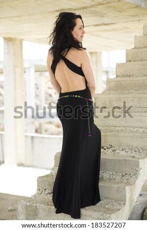 Fashion portrait of elegant woman - stock photo