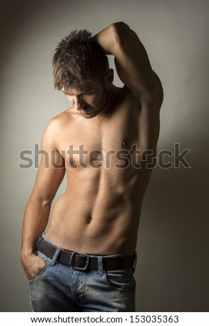 Fashion portrait of young handsome man  - stock photo