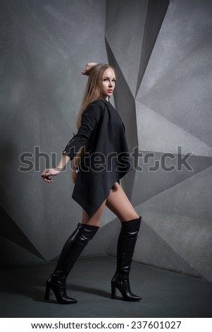 fashion sexy woman with long hair - stock photo