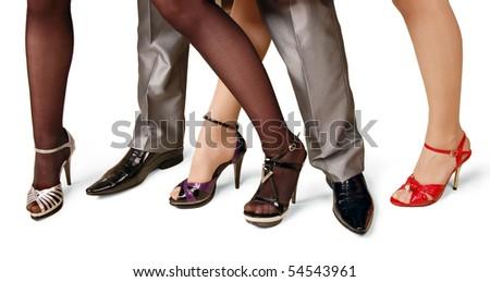 fashion shoes on a white background. - stock photo