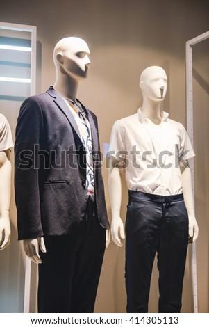 Fashion store display - stock photo