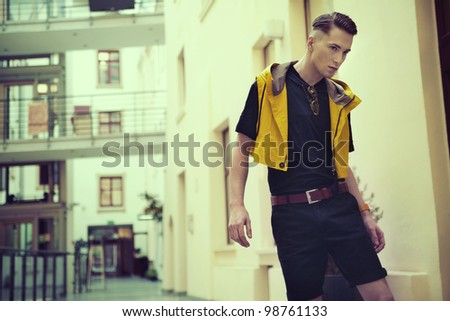 Fashion type photo of a young man - stock photo