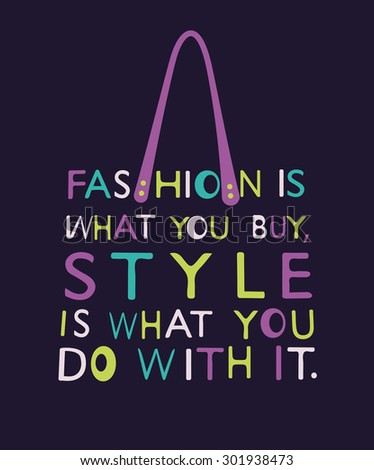 Fashion Woman bag made from quote.  - stock photo