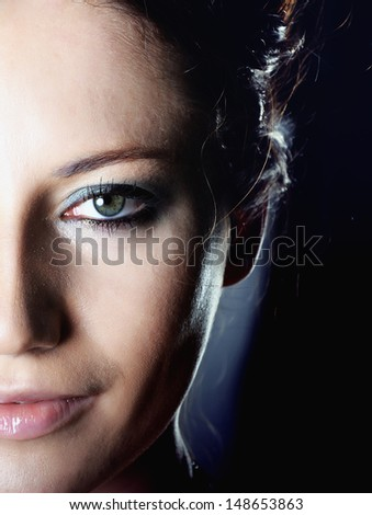 Fashion woman portrait - stock photo
