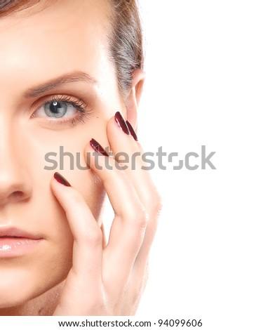 Fashion woman portrait - stock photo