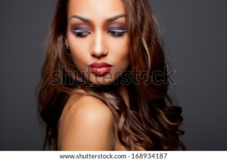 fashion young African woman - stock photo