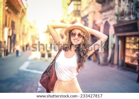Fashionable girl in fashionable clothes  - stock photo
