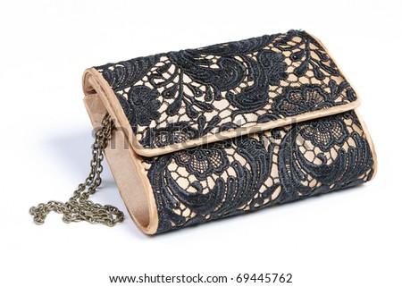 fashionable ladies' small hand bag - stock photo
