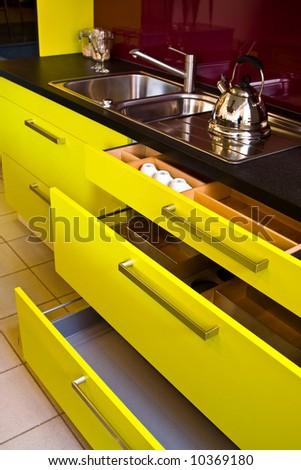Fashionable modern kitchen - stock photo