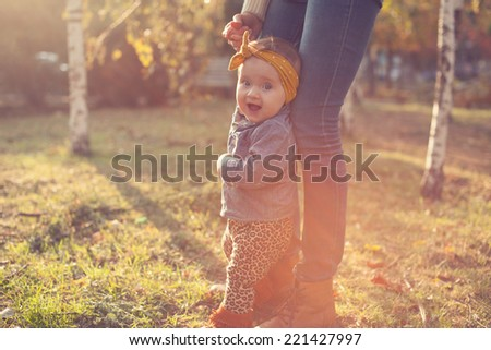 Fashionable six months baby model - stock photo