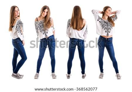 Fashionable teenage girl concept - stock photo