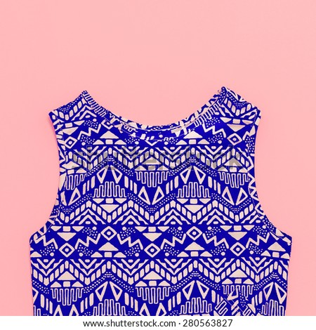 Fashionable top geometric prints. - stock photo