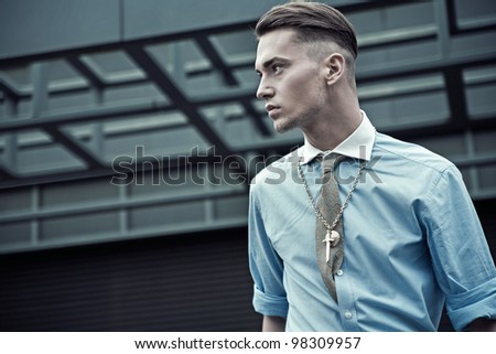 Fashionable young guy - stock photo