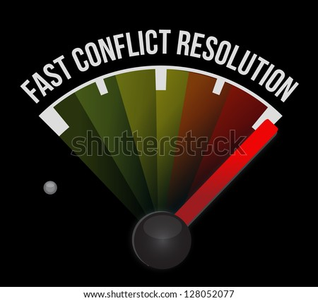 fast conflict resolution illustration design over white - stock photo