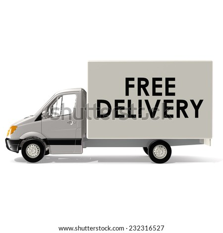 Fast delivery van - stock photo