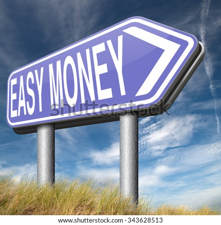fast easy money quick extra cash make a fortune online income   - stock photo