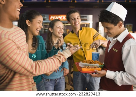 Fast Food at the Movie Theater - stock photo