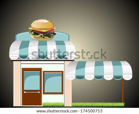 fast food cafe - stock photo