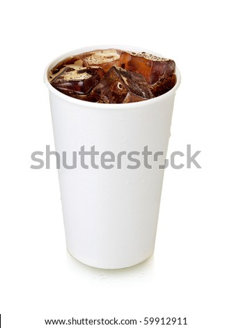 Fast food cola. Isolated on white - stock photo