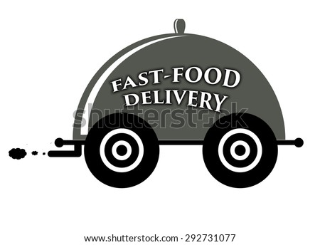 Fast-food delivery icon. - stock photo