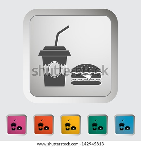 Fast food. Single icon. Vector version also available in my portfolio. - stock photo