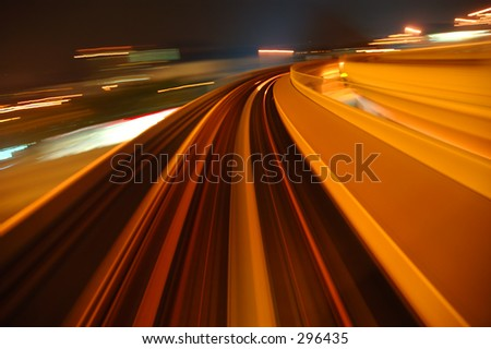 fast lane 4 - stock photo