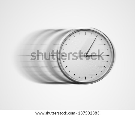 fast time concept - stock photo