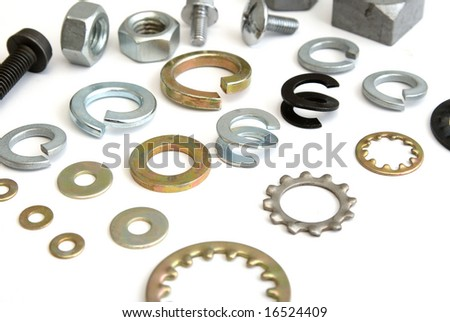 fastener background - stock photo
