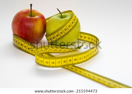 fasting with apples - stock photo