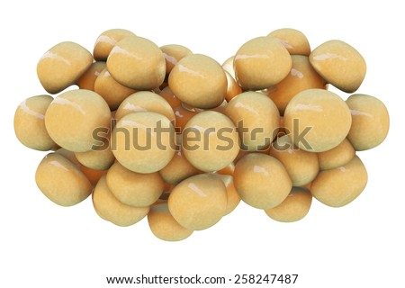 Fat cells - 3d rendered illustration - stock photo