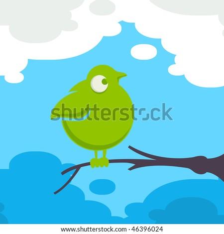 Fat funny bird - stock photo